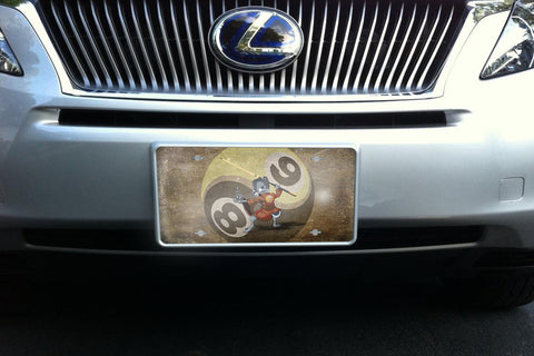 Chipmunk Fu license plate