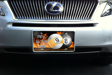 Fire In The Hole license plate