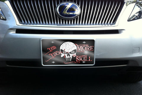 Less Luck More Skill license plate