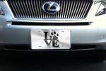 Love Paw license plate