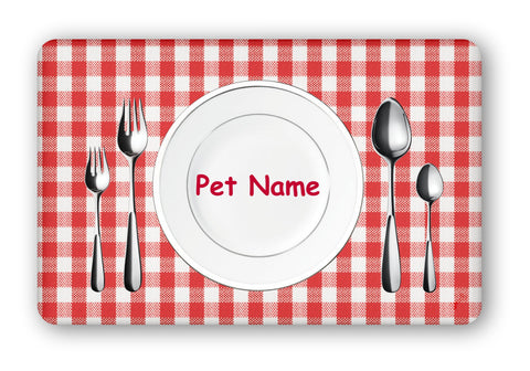 "Personalized ""Dinnertime"" Dog Food Mat"