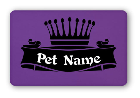 "Personalized ""Crown"" Pet Food Mat"