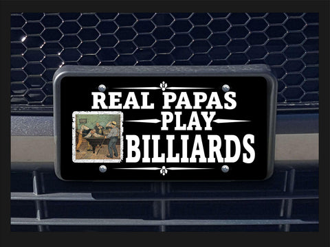 Real Papas Play Billiards license plate