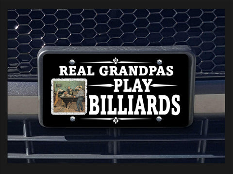 Real Grandpas Play Billiards license plate