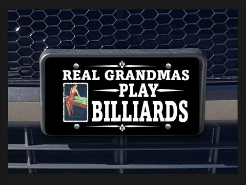 Real Grandmas Play Billiards license plate