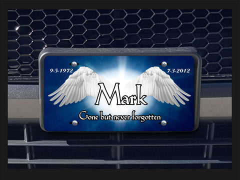 Memorial Angel Wings personalized license plate