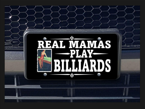 Real Mamas Play Billiards license plate