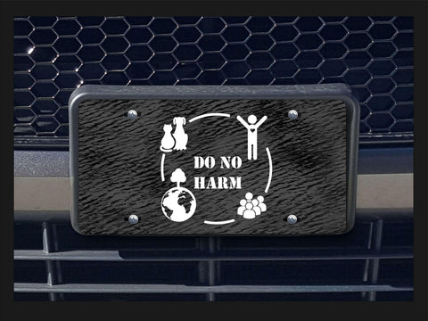 Do No Harm license plate