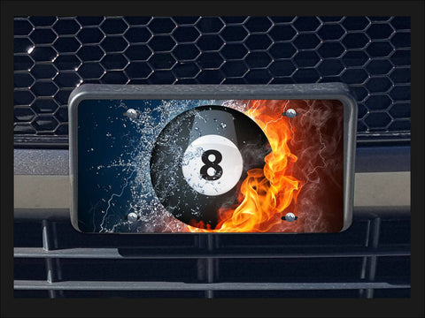 Hot 'n' Cold 8-ball license plate