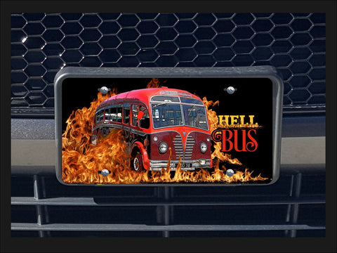 Hell Bus license plate