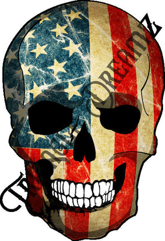 US Flag Skull by Triangle Dreamz
