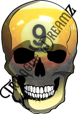 Nine-ball Skull by Triangle Dreamz