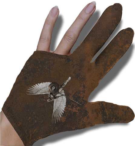 8-ball Warrior Angel Billiard Glove
