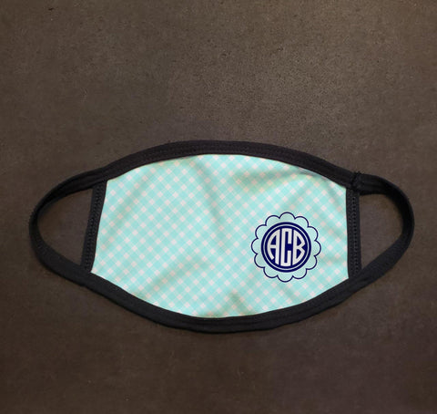 Monogram Plaid Face Mask