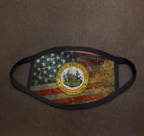 West Virginia State Seal Face Mask