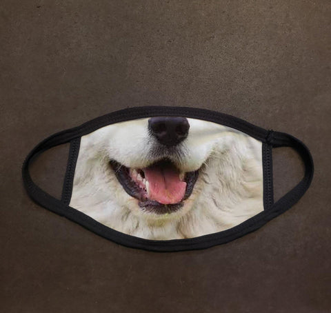 Dog Face Great Pyrenees Real Face Mask
