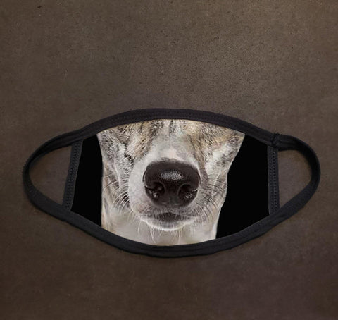 Dog Face Whippet Real Face Mask