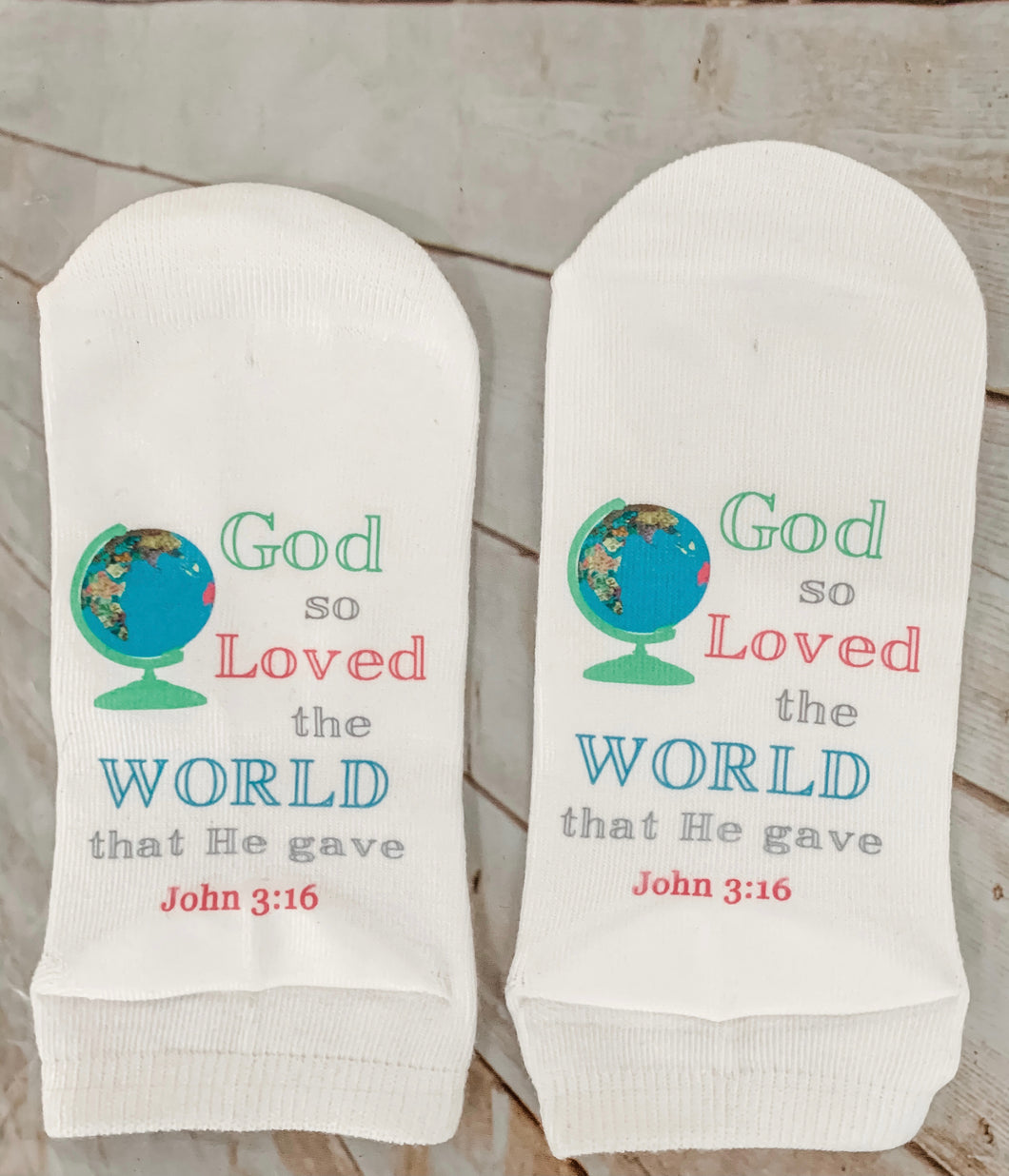 Standing on the Word Socks - John 3:16