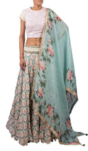Load image into Gallery viewer, PEARL SCALLOP ORGANZA LEHENGA