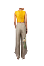 Load image into Gallery viewer, STAR MOON EMBROIDERED CAPE WITH RAW SILK CROPTOP