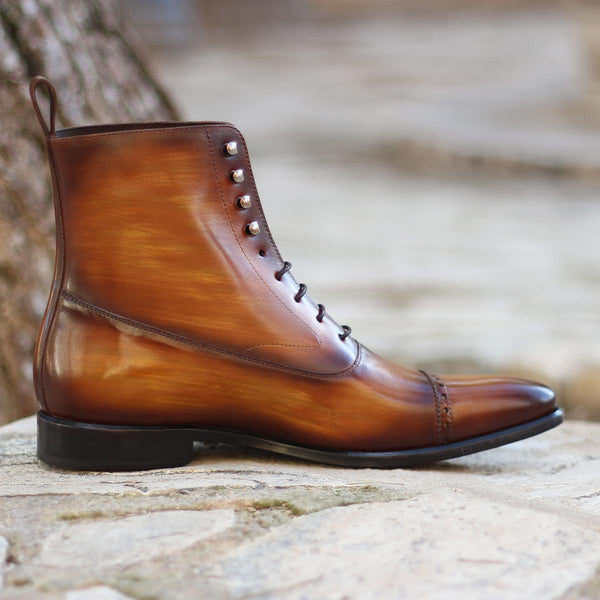 New Age Unique Handcrafted Patina Dress Boots