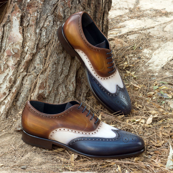PEACOCK - Unique Handcrafted Patina Full Brogue Oxford