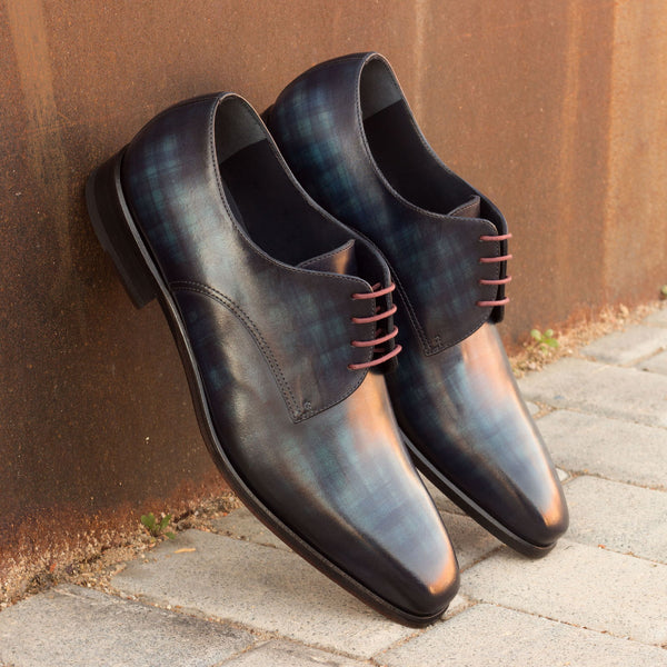 Unique Handcrafted Denim Style Patina Derby/Monks