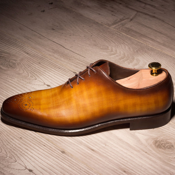 Unique Handcrafted Cognac Patina Wholecut
