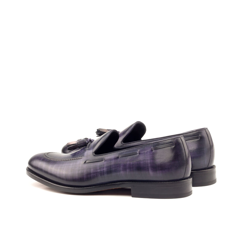 Unique Hand Painted Royal Purple Patina Loafer