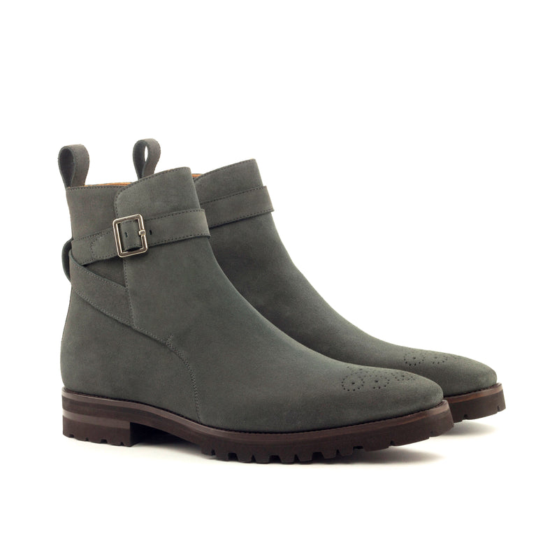 Unique Handcrafted Jodhpur Grey Lux Suede Boot