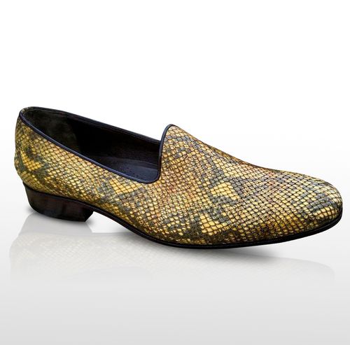 VARIO - Handcrafted Slick Snake Patterned Leather Loafer