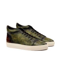 Unique Handcrafted LR High-Tops Painted Patina GRN