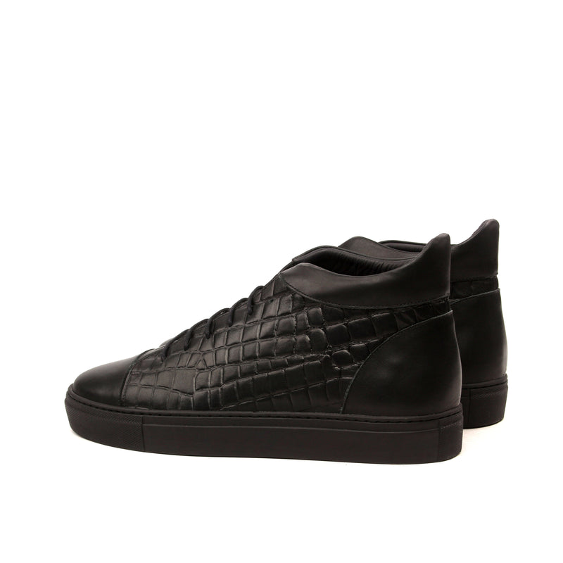 Unique Handcrafted LR High-Tops Croco BLK