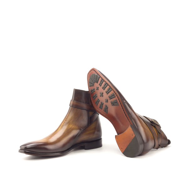 Unique Handcrafted Jodhpur Cognac Patina Boot