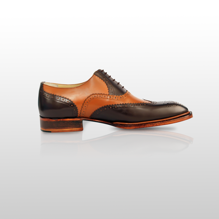 OATES - Exquisite Handcrafted Italian Style Brown Oxford Dress Shoe