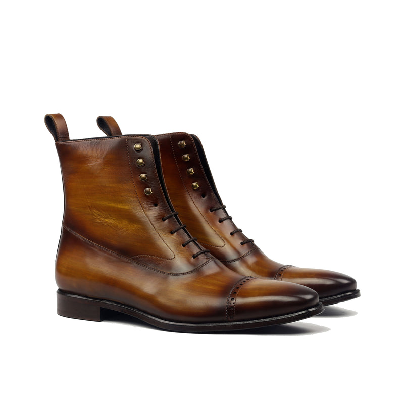 Unique Handcrafted Balmoral Oxford Style Boot w/ Handpainted Patina