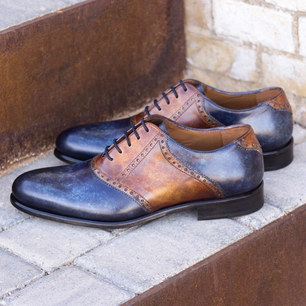Unique Handcrafted Casual Derby - PAPIRO Patina [1] or MARBLE Patina [2]