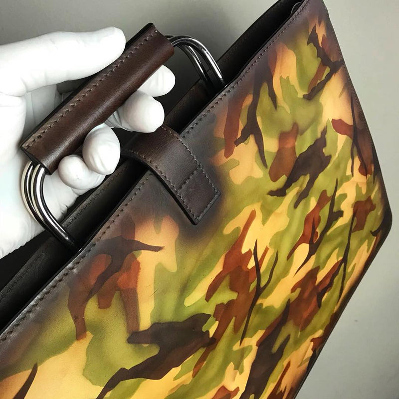 ~the SATCHEL ~ Beautiful Unique Handcrafted & Hand-Painted Patina