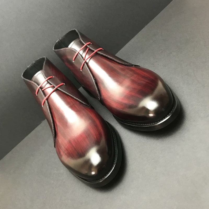 Unique Handcrafted Red Piro Patina Chukka