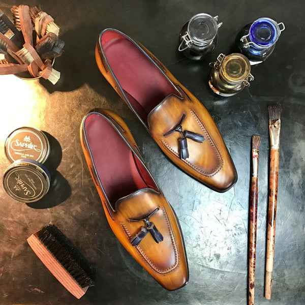 RIDGE - Unique Hand Painted Mens Dress Shoe