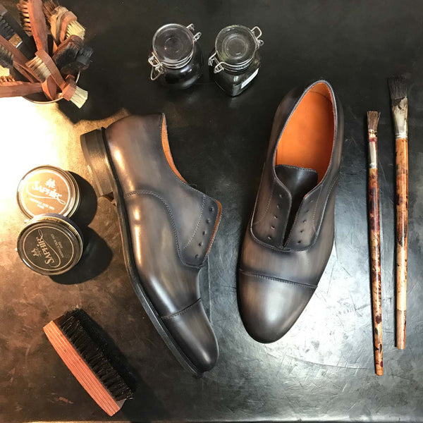 SAGE - Unique Hand Painted Mens Dress Shoe