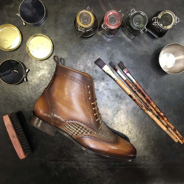 ROWAN - Unique Hand Painted Mens Dress Shoe