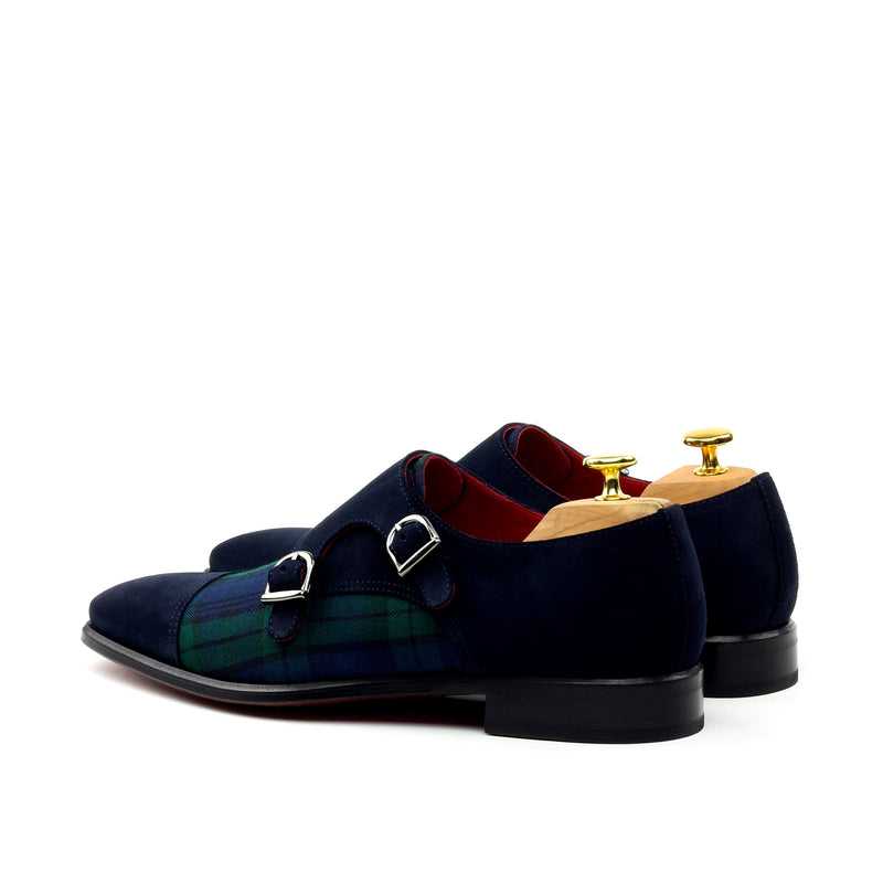 Unique Handcrafted Double Strap Lux Suede Monkstrap