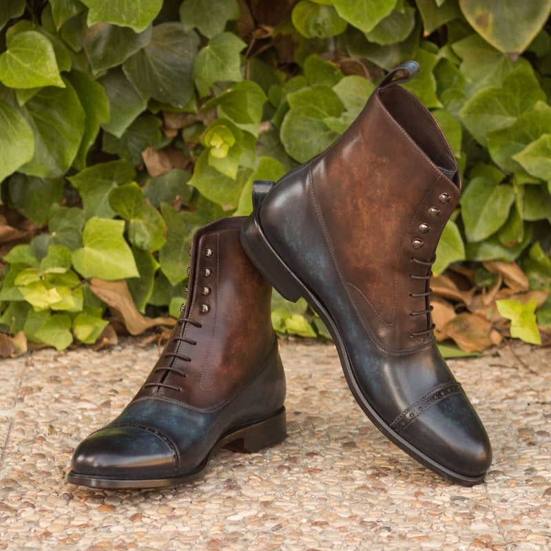 Unique Handcrafted Patina Luxury Balmoral Boot