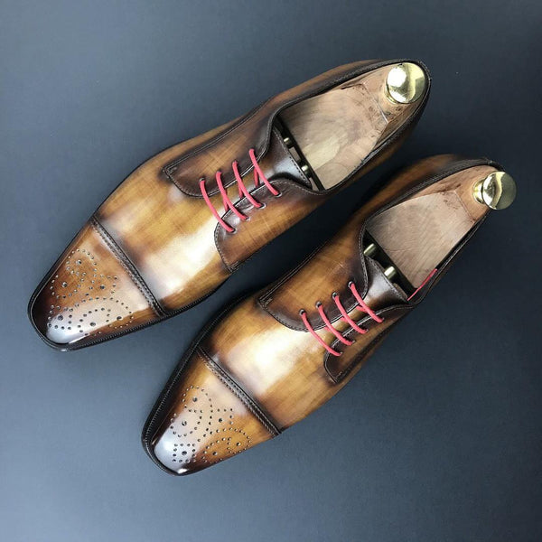 Unique Handcrafted Cognac Patina Whole-Cut OR Brogue