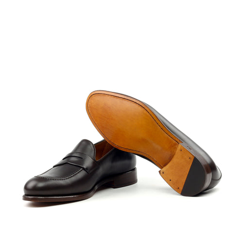 Unique Handcrafted Black Slip-on Loafer