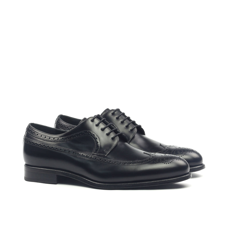 Unique Handcrafted Black Wingtip Oxford w/ Full Brogue