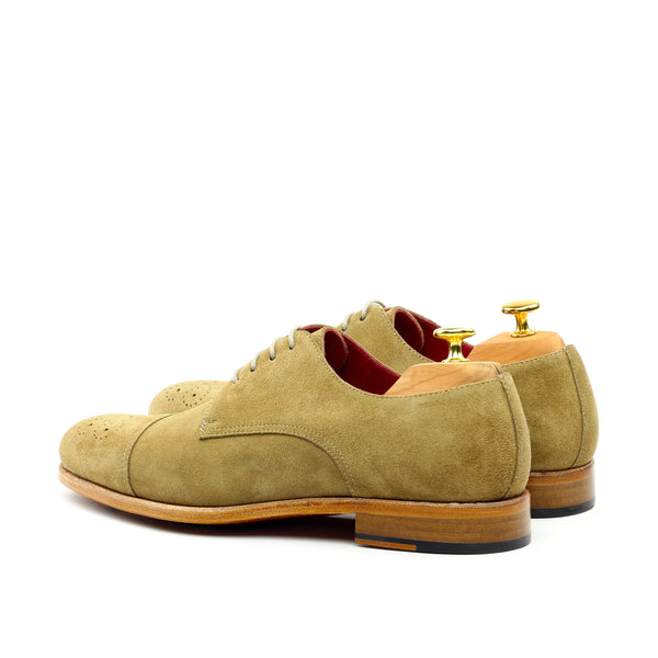 GOLD DUST - Unique Handcrafted Golden Brown Brogue Classic Oxford w/ Cap Toe