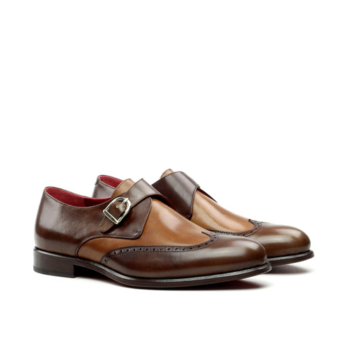 Unique Handcrafted Chestnut Brown Single Strap Monkstrap