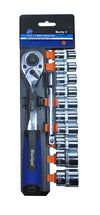 "BlueSpot 12 Pce 1/2"" Ratchet & Socket Set - West Kent Motor Factors"